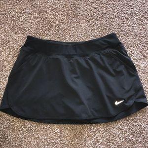 Black Nike DriFit Tennis Golf Skort, Size Medium